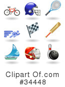 Royalty-Free (RF) Sports Clipart Illustration #34448