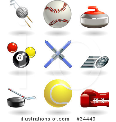 Tennis Ball Clipart #34449 by AtStockIllustration