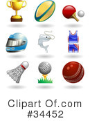 Royalty-Free (RF) Sports Clipart Illustration #34452