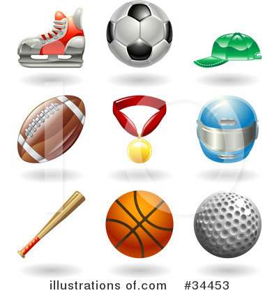 American Football Clipart #34453 by AtStockIllustration