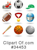 Royalty-Free (RF) Sports Clipart Illustration #34453
