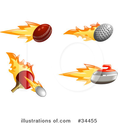 Curling Clipart #34455 by AtStockIllustration