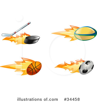 Basketball Clipart #34458 by AtStockIllustration