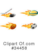 Royalty-Free (RF) Sports Clipart Illustration #34458