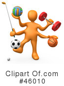 Royalty-Free (RF) sports Clipart Illustration #46010