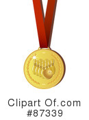 Royalty-Free (RF) Sports Medal Clipart Illustration #87339