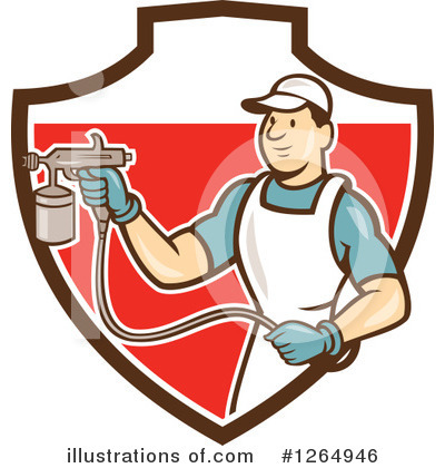 Painter Clipart #1264946 by patrimonio