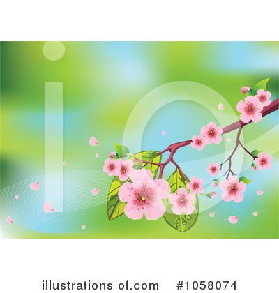 Cherry Blossoms Clipart #1058074 by Pushkin