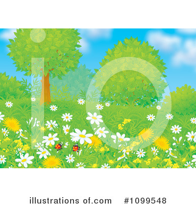 Wildflowers Clipart #1099548 by Alex Bannykh