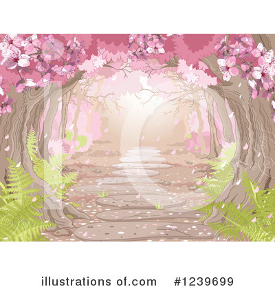 Cherry Blossoms Clipart #1239699 by Pushkin