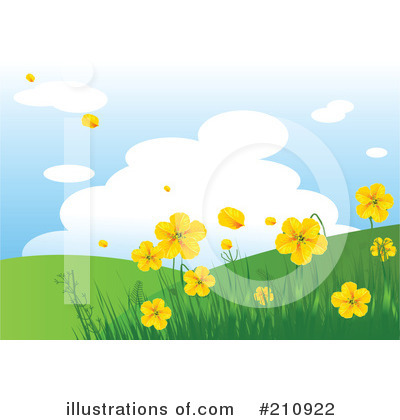 Royalty-Free (RF) Spring Time Clipart Illustration by Pushkin - Stock Sample #210922