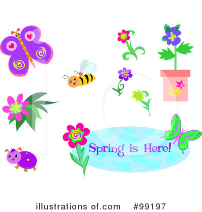 Royalty-Free (RF) Spring Time Clipart Illustration by bpearth - Stock Sample #99197
