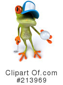 Royalty-Free (RF) Springer Frog Clipart Illustration #213969