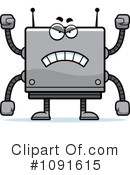 Royalty-Free (RF) Square Robot Clipart Illustration #1091615