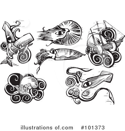 Squid Clipart #101373 by xunantunich