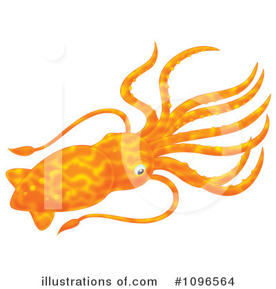 Squid Clipart #1096564 by Alex Bannykh