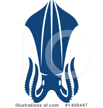 Squid Clipart #1409447 by Vector Tradition SM