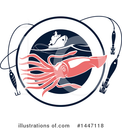 Squid Clipart #1447118 by Vector Tradition SM