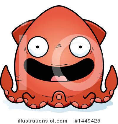 Squid Clipart #1449425 by Cory Thoman