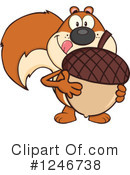 Royalty-Free (RF) Squirrel Clipart Illustration #1246738