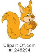 Squirrel Clipart #1248294 by Alex Bannykh