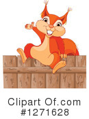 Royalty-Free (RF) Squirrel Clipart Illustration #1271628