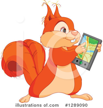 Royalty-Free (RF) Squirrel Clipart Illustration by Pushkin - Stock Sample #1289090
