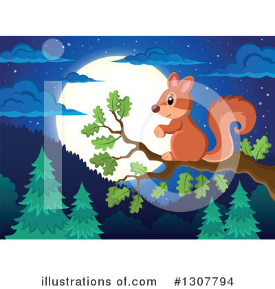 Forest Animals Clipart #1307794 by visekart