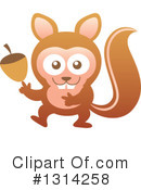 Royalty-Free (RF) Squirrel Clipart Illustration #1314258
