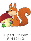 Royalty-Free (RF) Squirrel Clipart Illustration #1419413