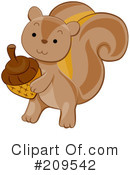 Royalty-Free (RF) Squirrel Clipart Illustration #209542