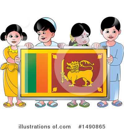 Royalty-Free (RF) Sri Lanka Clipart Illustration by Lal Perera - Stock Sample #1490865