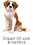 Royalty-Free (RF) St Bernard Clipart Illustration #1097912