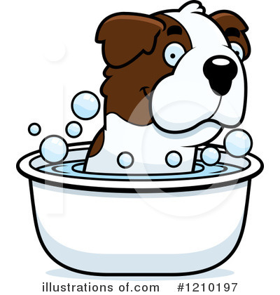 St Bernard Clipart #1210197 by Cory Thoman