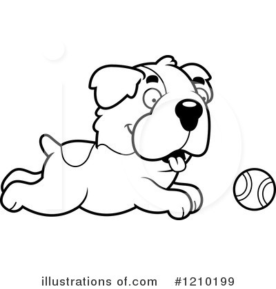 St Bernard Clipart #1210199 by Cory Thoman