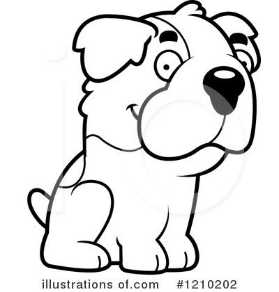 St Bernard Clipart #1210202 by Cory Thoman