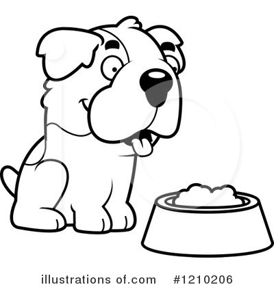 St Bernard Clipart #1210206 by Cory Thoman
