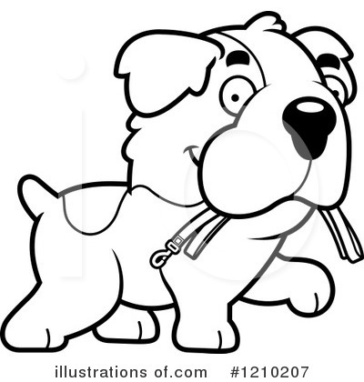 St Bernard Clipart #1210207 by Cory Thoman