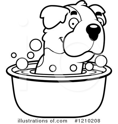 St Bernard Clipart #1210208 by Cory Thoman