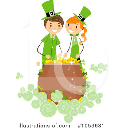 Royalty-Free (RF) St Patricks Day Clipart Illustration by BNP Design Studio - Stock Sample #1053681