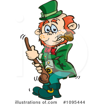 Leprechaun Clipart #1095444 by Dennis Holmes Designs