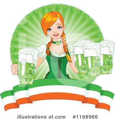 Beer Maiden Clipart #1168966 by Pushkin