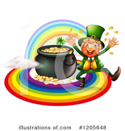 Pot Of Gold Clipart #1205648 by Graphics RF