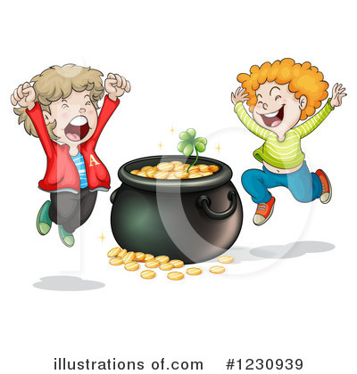 Pot Of Gold Clipart #1230939 by Graphics RF