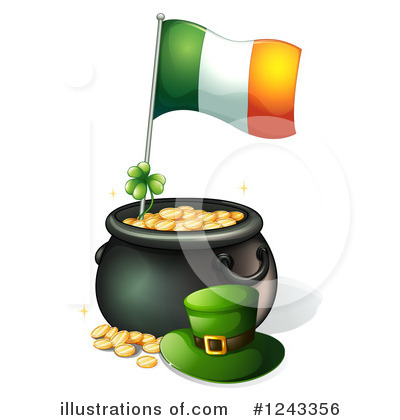 Pot Of Gold Clipart #1243356 by Graphics RF
