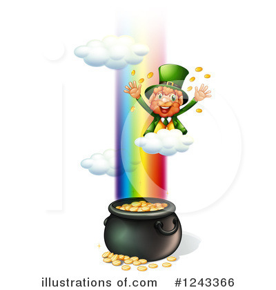 Pot Of Gold Clipart #1243366 by Graphics RF