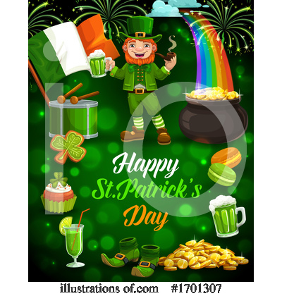 Royalty-Free (RF) St Patricks Day Clipart Illustration by Vector Tradition SM - Stock Sample #1701307