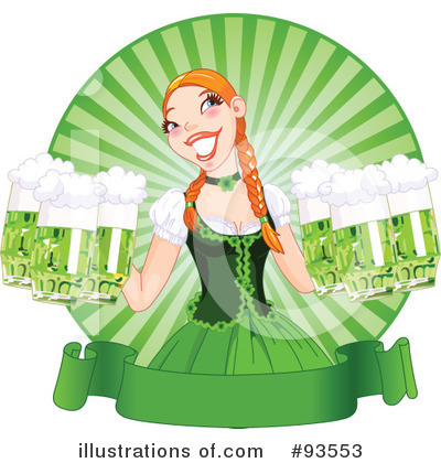 Beer Maiden Clipart #93553 by Pushkin