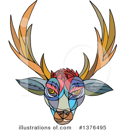 Deer Clipart #1376495 by patrimonio