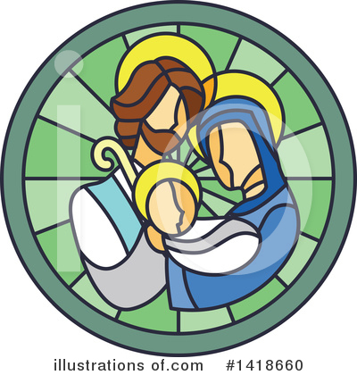 Stained Glass Clipart #1418660 by BNP Design Studio